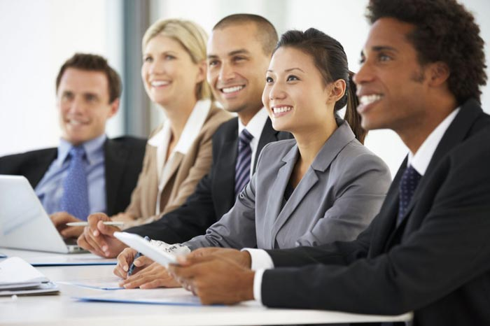 Career Professionals at table